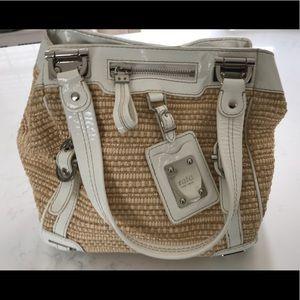 Rafe Raffia/white Parent Leather bag